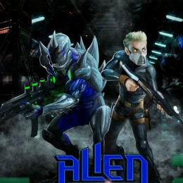 Alien támadás lövöldözős játék