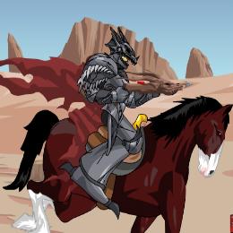 A fekete lovag lovas játék