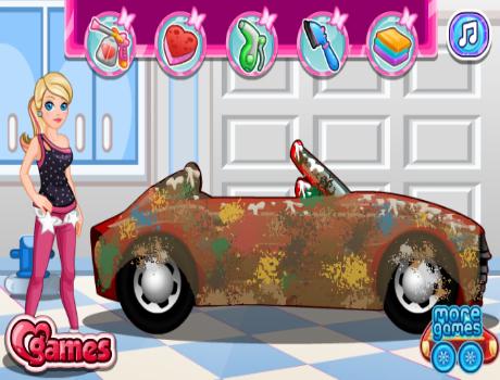Autó mosós Barbie játék