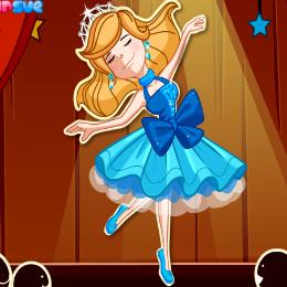 Balerina öltöztetős játék