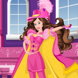 Barbie mint muskétás öltöztetős Barbie játék
