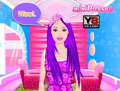 Barbie szuper jó frizurája fodrászos játék