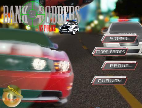 Bankrabló Vs Rendőr autós játék