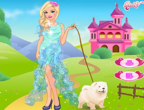 Barbie és kutyája öltöztetős játék