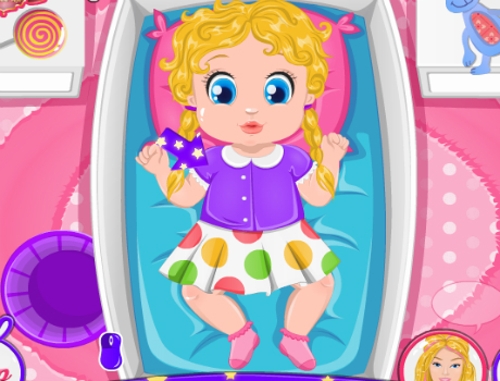 Bébi lefektetés Barbie játék