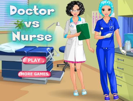 Doktor Vs. Nővér öltöztetős játék