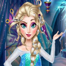 Elsa haj koronája fodrászos játék