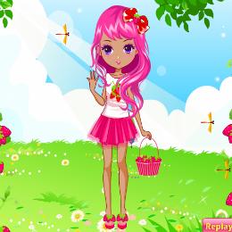 Epres lány öltöztetős játék