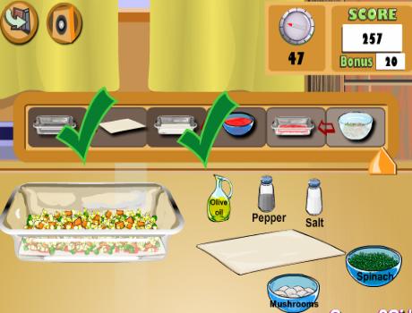Finom Lasagna főzős játék