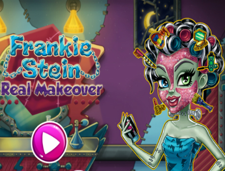 Frankie Stein real makeover Monster high játék