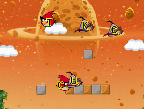 Gyorsan gépelős Angry Birds játék