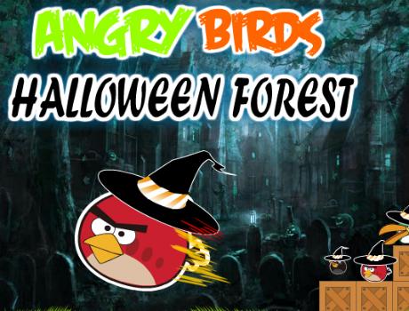 Halloween Forest Angry Birds játék
