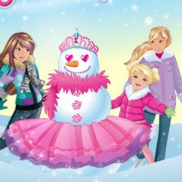 Hóember divat Barbie játék