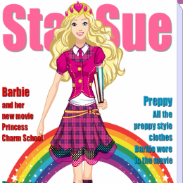 Iskolai magazin Barbie játék