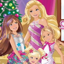 Karácsonyi zokni Barbie játék
