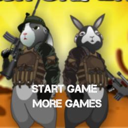 Katonai nyúl lövöldözős játék