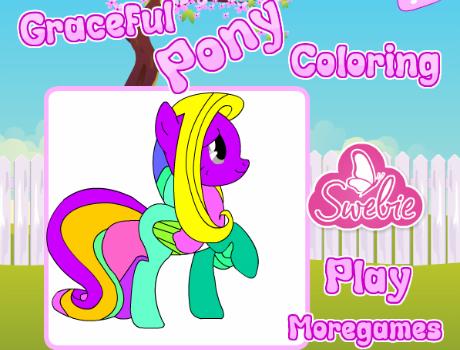 Kecses Pony színezős lovas játék