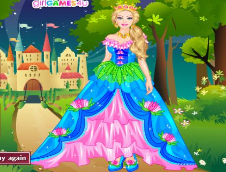 Királylány öltöztetős Barbie játék