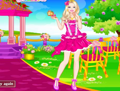Koszorús lány öltöztetős Barbie játék