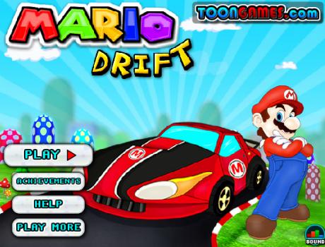 Mario drift autós játék