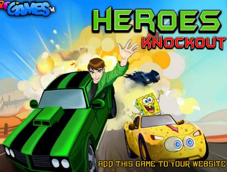 Mesehősök autóverseny autós játék