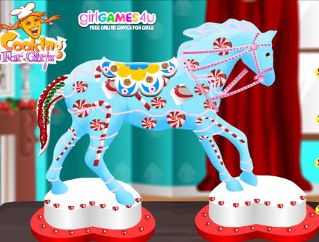 Mézeskalács ló készítés lovas játék