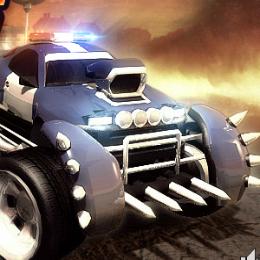 Morcos rendőr autó autós játék