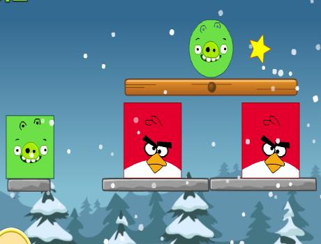 Nagyon jó logikai Angry Birds játék