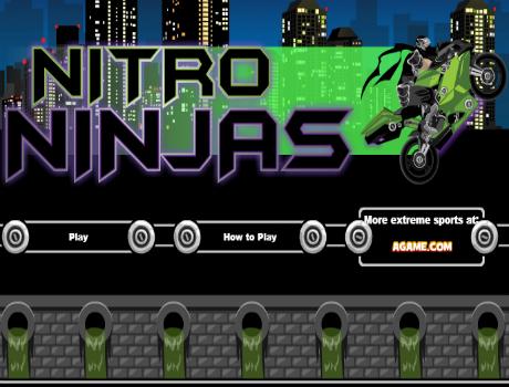 Nitro ninjas motoros játék