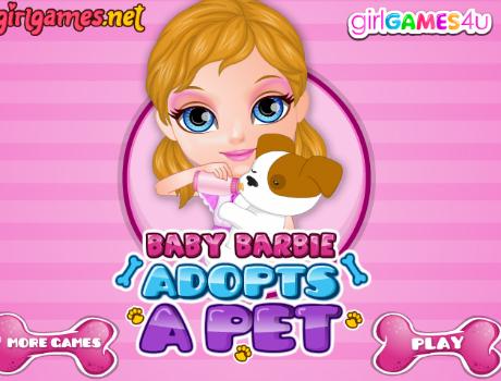 Örökbefogadott kutya Barbie játék