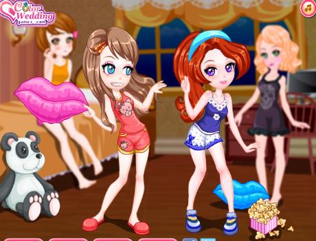 Pizsama buli öltöztetős játék