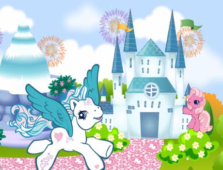 Póni és a kastély lovas játék