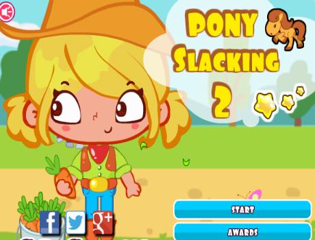 Pony lazaság 2 lovas játék