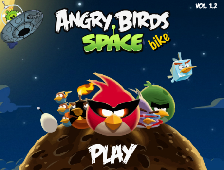 Space bike Angry Birds játék