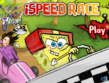 Speed race Spongyabob autós játék