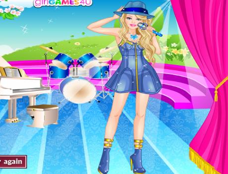 Sztár öltöztetős Barbie játék