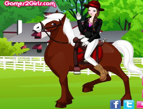 Szuper lovas lány öltöztetős játék
