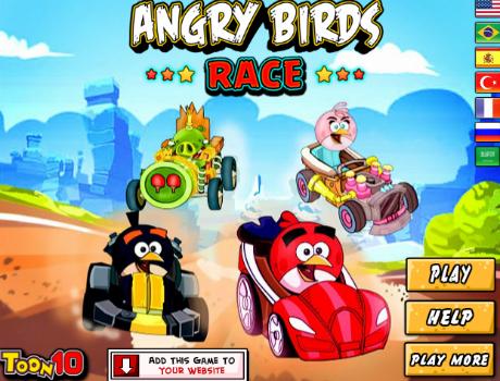 Szuper jó autóverseny Angry Birds játék