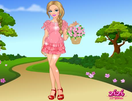 Tavaszi lány öltöztetős játék