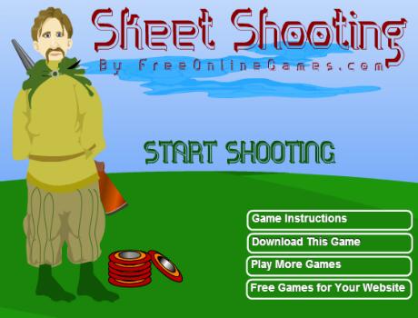 Tányér lövés lövöldözős játék