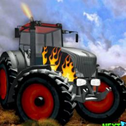 Tractor autós játék