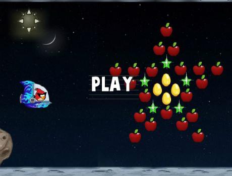 Űr repülés Angry Birds játék