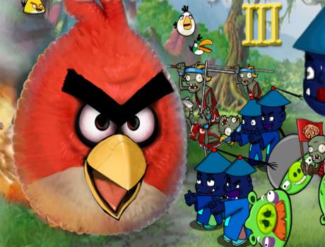 Zombi támadás Angry Birds játék