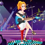 Énekes lány öltöztetős játék