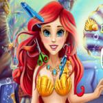 Ariel a kis hableány fodrászos játék