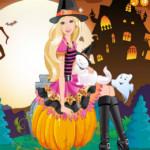 Halloween öltöztetős Barbie játék