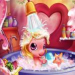 Baby Pony Bath lovas játék