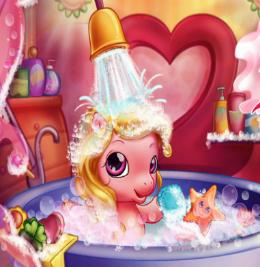 baby-pony-bath-lovas-jatek