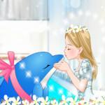 Delfin csók öltöztetős játék