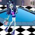 Kék Lagoona öltöztetős Monster high játék